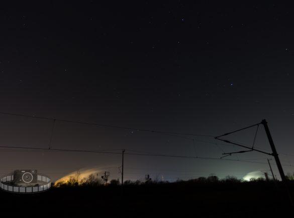 Langzeitbelichtung in der Nacht
