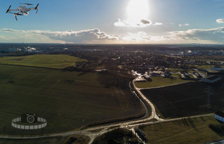 Luftbild – Greppin von oben