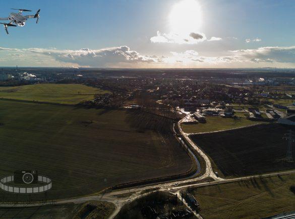 Luftbild - Greppin von oben