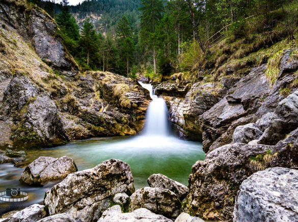 Langzeitbelichtung Kuhfluchtwasserfall