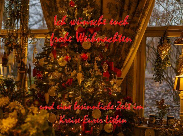 Ich wünsche besinnliche Weihnachten und sage 1000 mal Danke