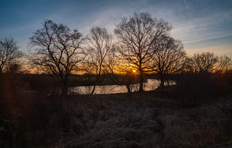 Sonnenaufgang in der Muldeaue